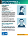 Icon of CDC Guidance RE Cloth Face Coverings (A7451327)