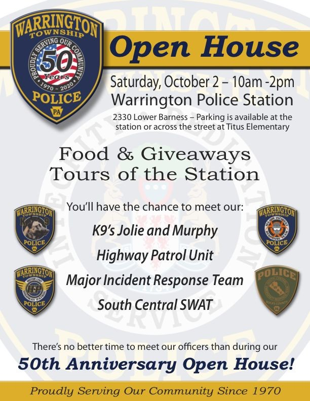Warrington Police Open House and 50th Anniversary @ Warrington Police Station
